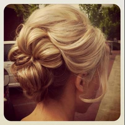 Romantic Bobby Pinned Updo Hairstyle