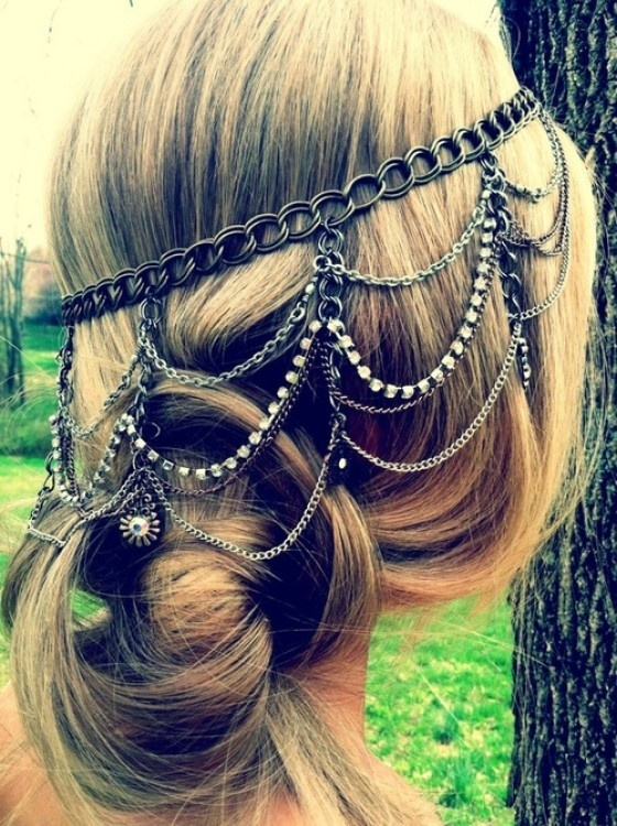 Romantic Hairstyle with Accessories