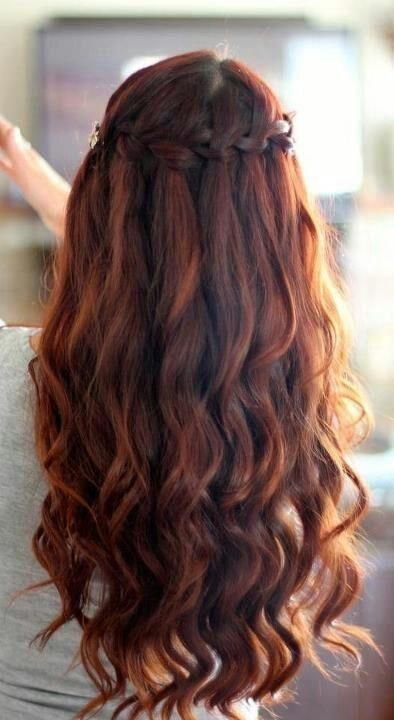 Romantic Waterfall Hairstyle