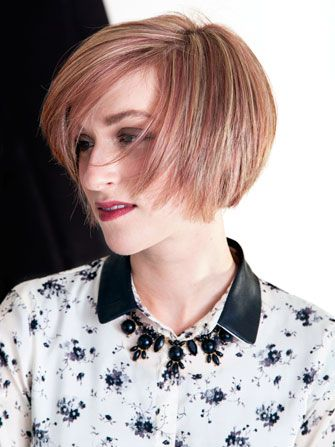 Rose Gold Short Bob