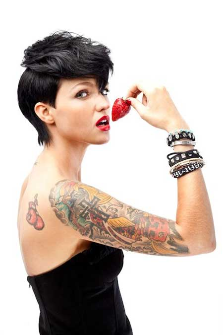 Ruby Rose's Attractive Pixie Haircut