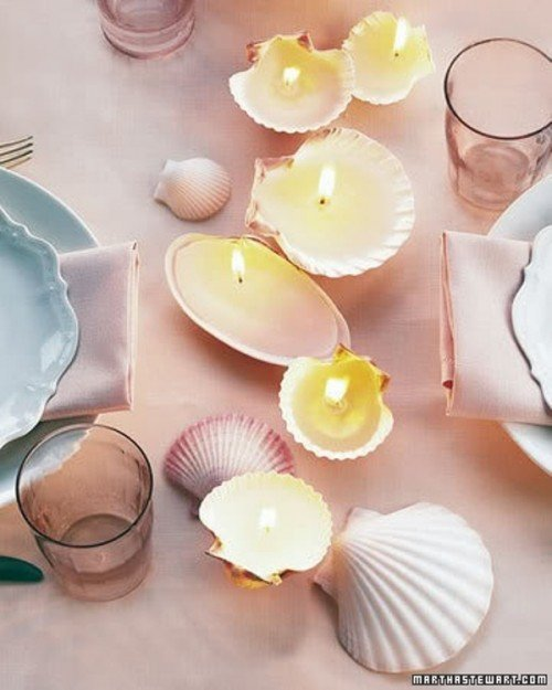Seashell Candle Holders