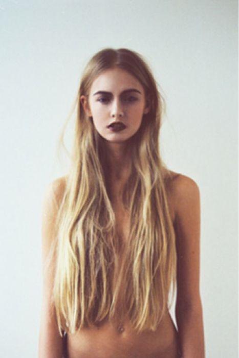Sexy Blonde Long Hair