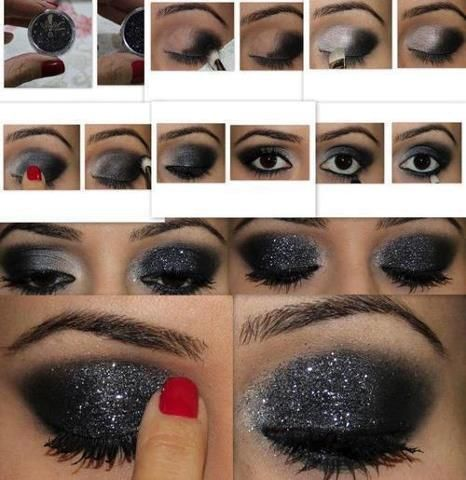 Shimmer Black Eye Makeup Tutorial