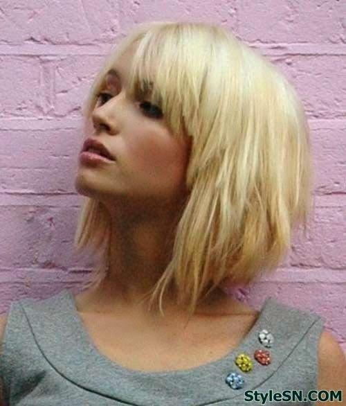 Short Layered Bob for Blonde Hair