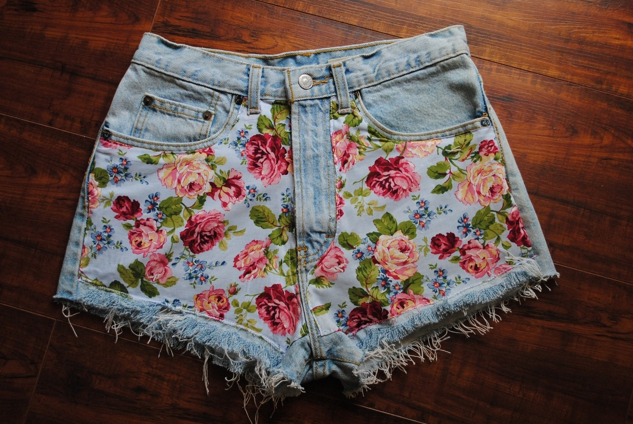 Shorts with Flower Print