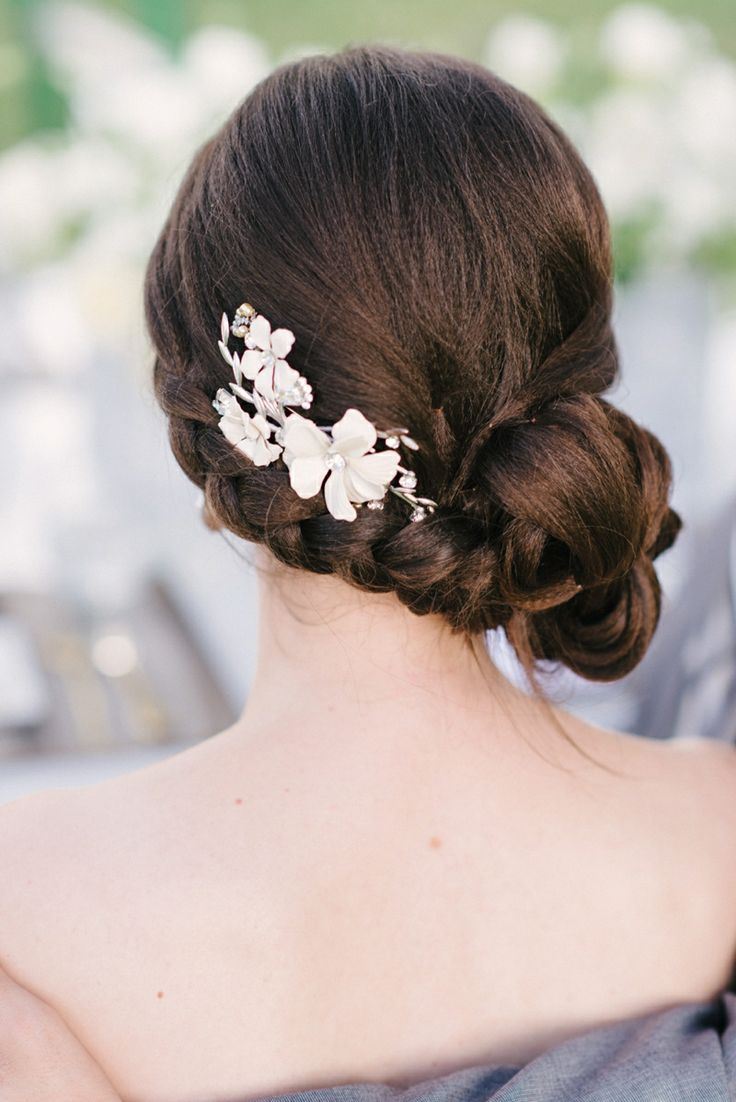 Bridal Hair Accessories For Buns : Hairstyles vintage updo for every girl pretty designs