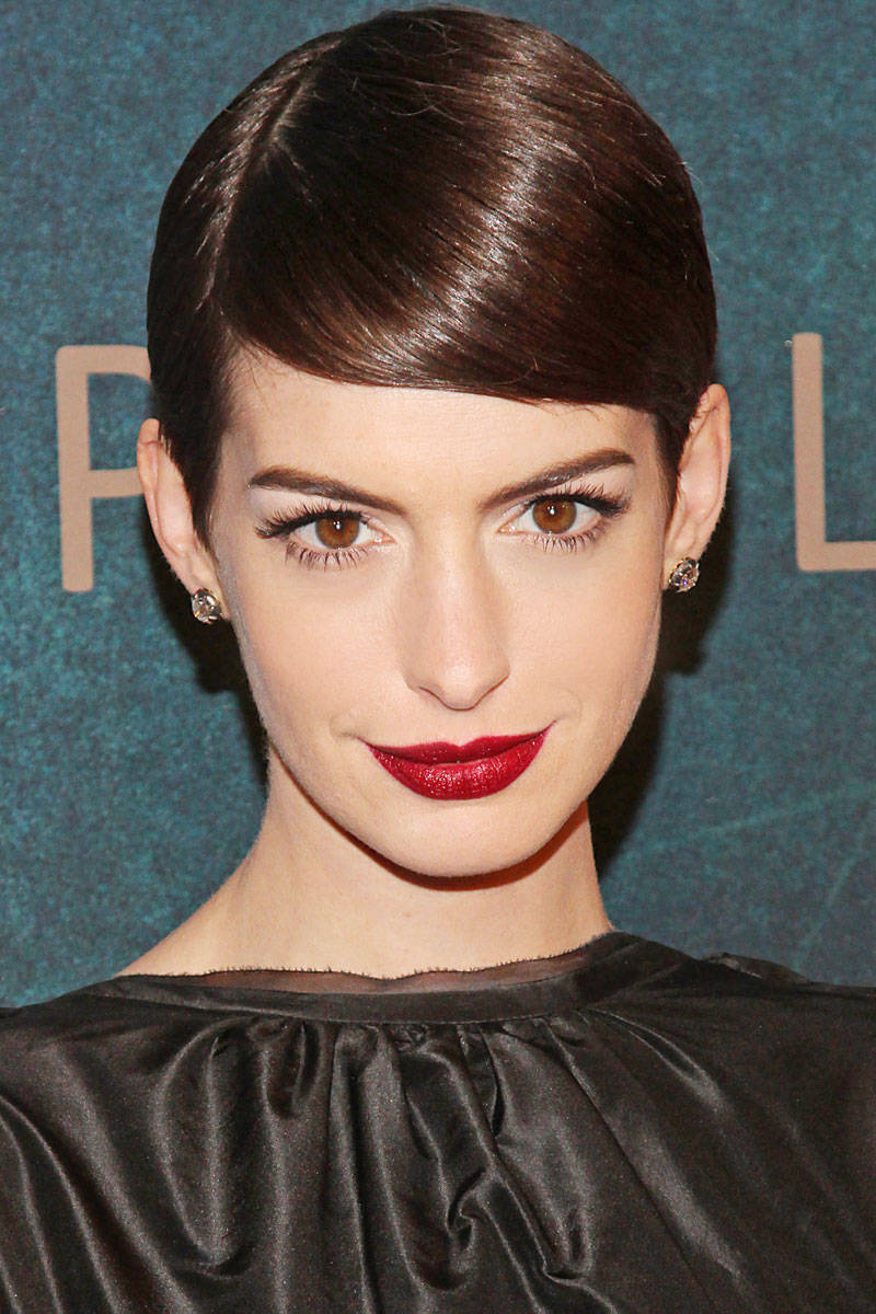 Slick Side-parted Short Hairstyle