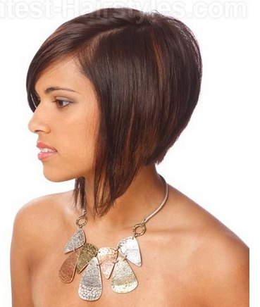 Stacked A Line Bob Hairstyle