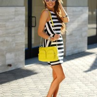 Street Style Ideas With Stripes - Striped Dress