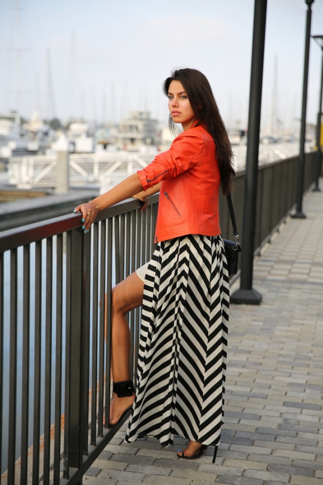 Street Style Ideas With Stripes - Striped Maxi Dress