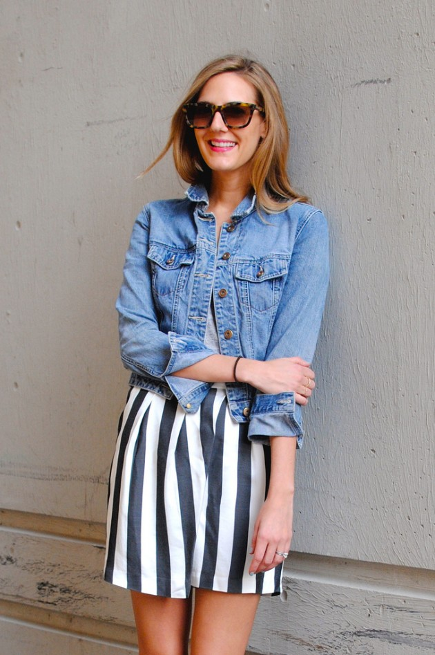 Street Style Ideas With Stripes - Striped Shorts