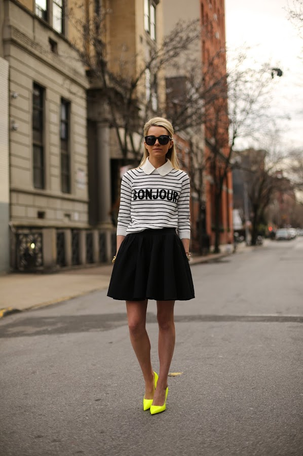 Street Style Ideas With Stripes - Striped Sweater