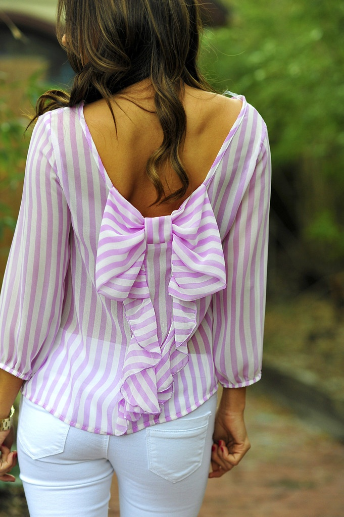 Stripe Outfit with a Bow