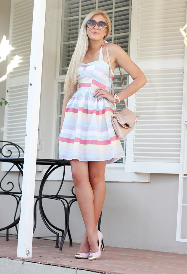 Stripe Short Dresses for Spring 2014