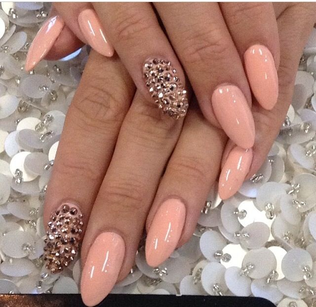 Pink stiletto nail designs to adore pretty designs studded pink nails prinsesfo Choice Image