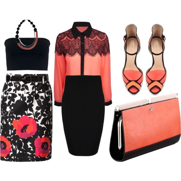 770d83324c78 Pretty and Fresh Coral Outfits for Summer. Stunning Summer Polyvore  Combination