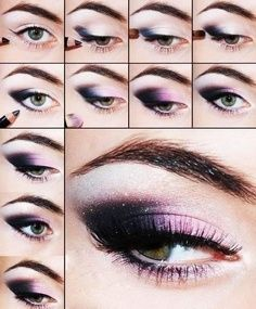 Stylish Black and Purple Eye Makeup Tutorial