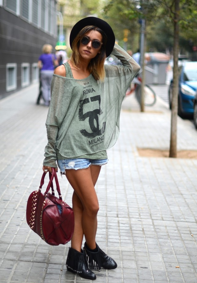 Stylish Outfit with Denim Shorts