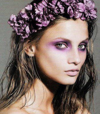 Stylish Purple Eye Makeup Idea