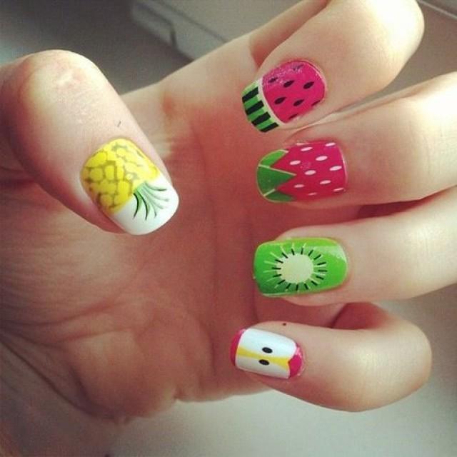 Summer Fruit Nail Designs