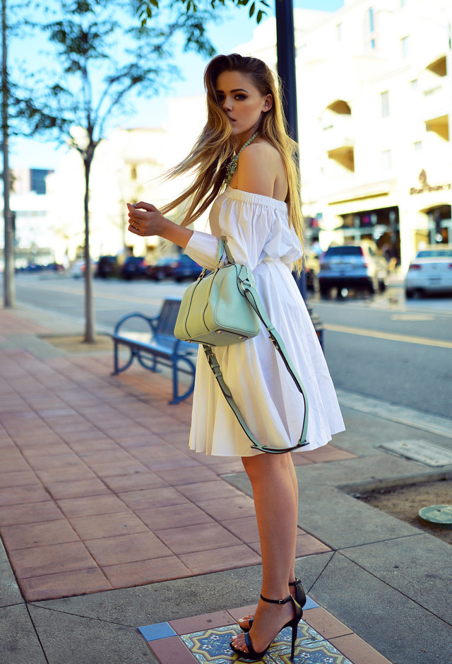Sweet Outfit Idea with White Dress