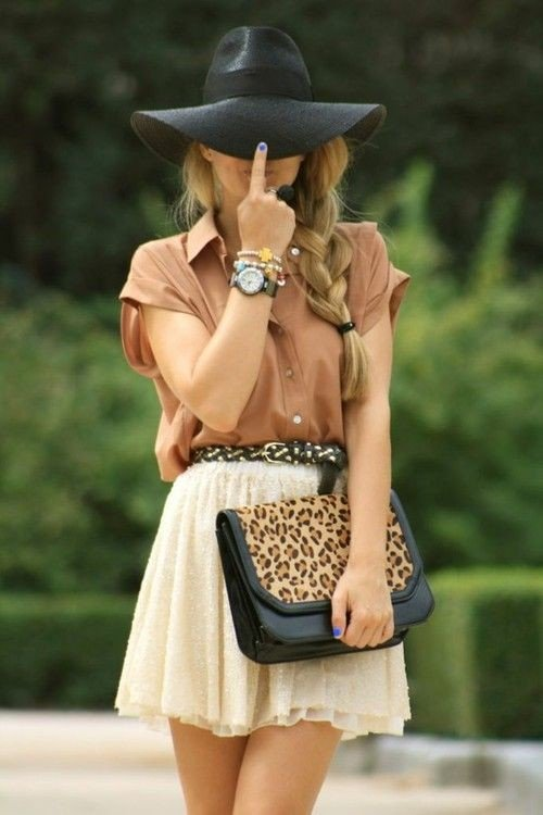 Sweet Summer Outfit Idea with Hat