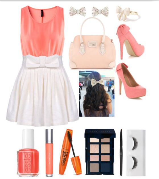 Tangerine Bow Outfit Idea