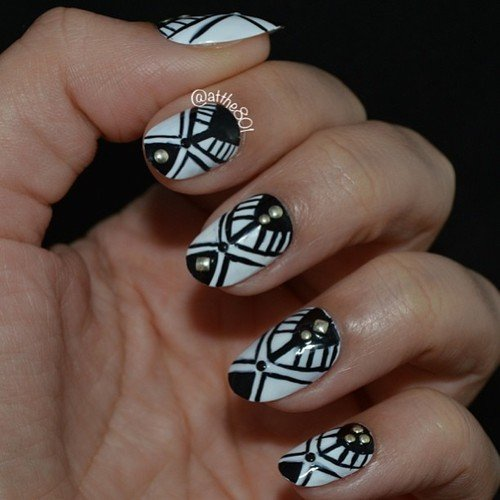 Tribal nail art designs image collections nail art and nail 11 classic black and white nail design ideas pretty designs tribal nail art designs prinsesfo image prinsesfo Choice Image
