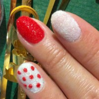 Velvet Nails with Dots