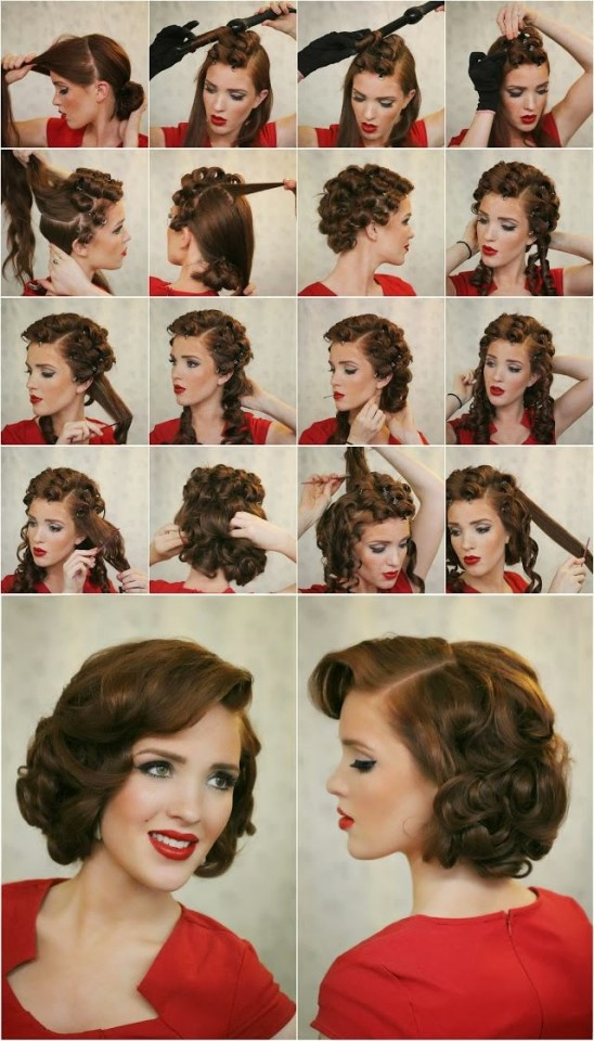Easy Vintage Hairstyles For Curly Hair : Super easy hairstyles for your everyday look pretty