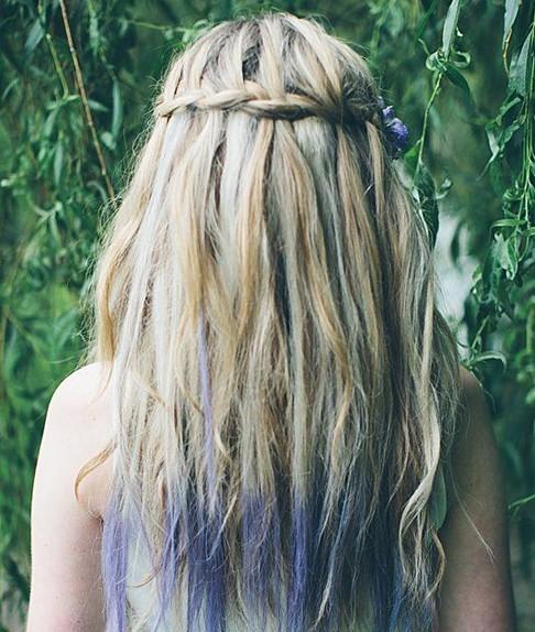 Waterfall Braid for Highlighted Hair