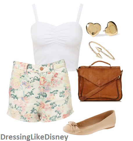 White Crop Top Outfit Idea