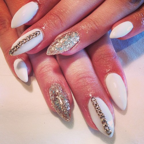 14 fantastic nail designs pretty designs white and gold nails for classy nail designs prinsesfo Choice Image