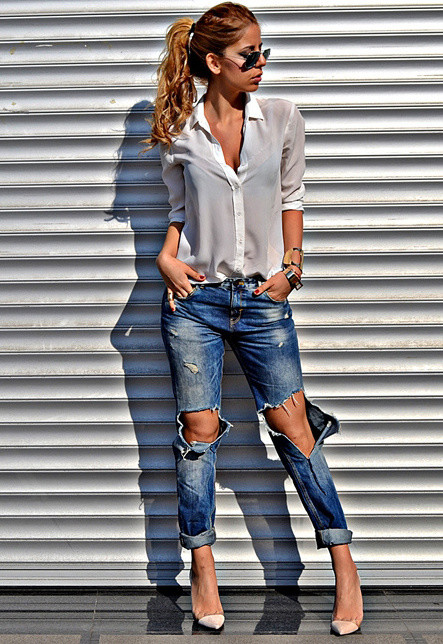 Wild Style Outfit with Ripped Jeans
