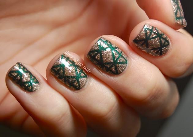 Cute and unique nail design. | Simple nail art designs