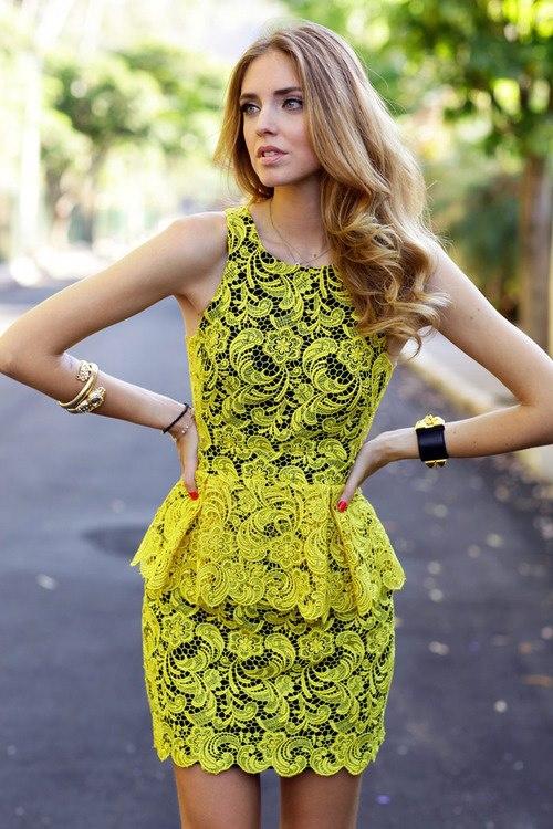 Yellow Lacey Dress