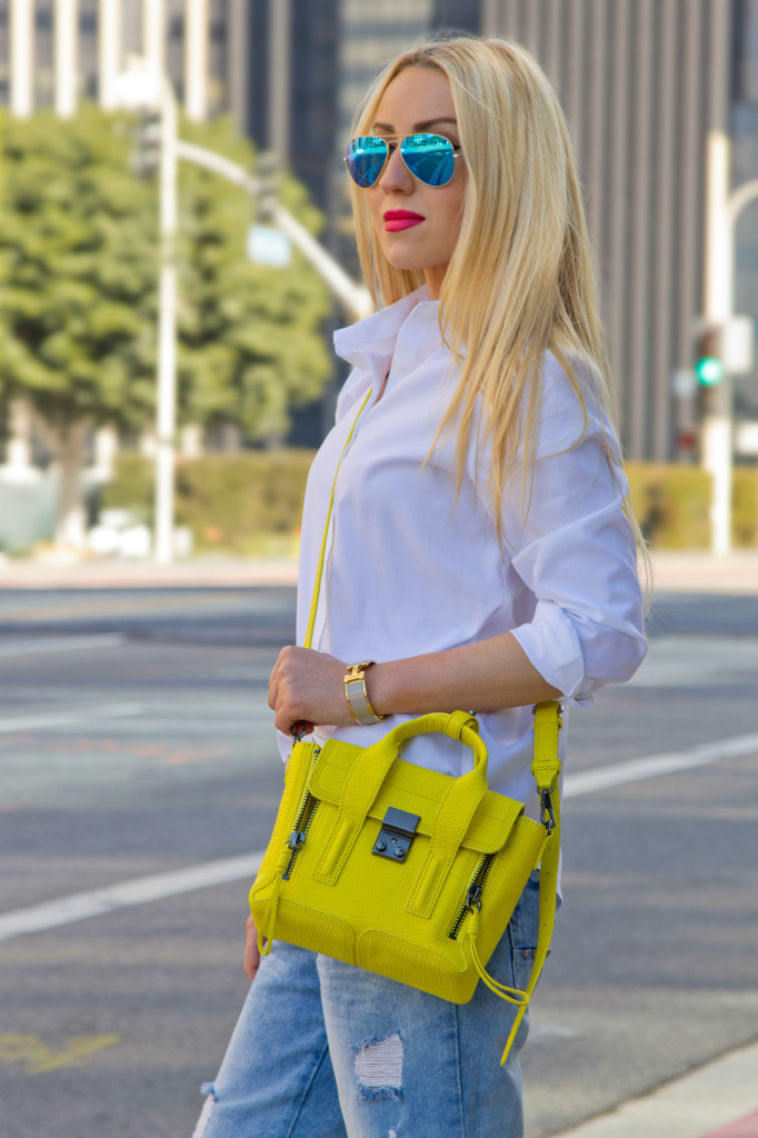 Yellow One Shoulder Bag