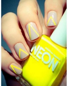 Yellow and Grey Nails