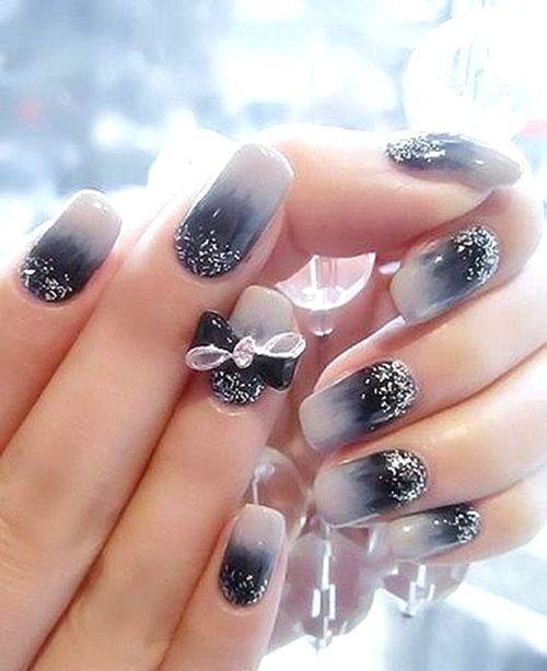 3D Glitter Nails