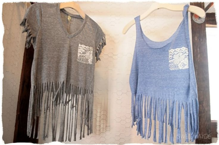 Upgrade your T-shirts: DIY Crop Tops - Pretty Designs Brown Hair With Red Tips Tumblr