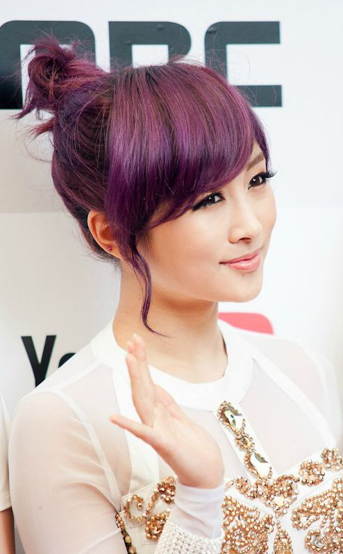 Adorable Hair Knot for Purple Hair