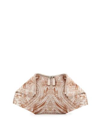 Alexander McQueen De-Manta Lace-Print Clutch Bag