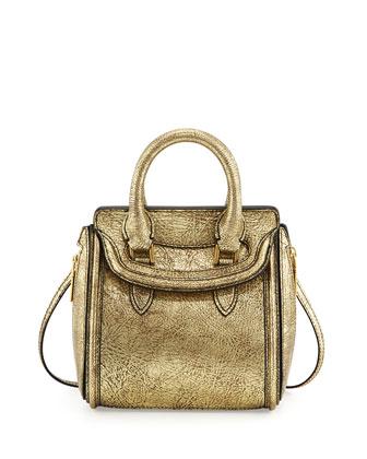 Alexander McQueen Heroine Mini Metallic Satchel Bag