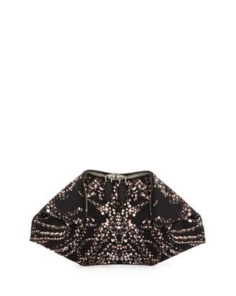 Alexander McQueen Jewel-Print Small De-Manta Clutch Bag