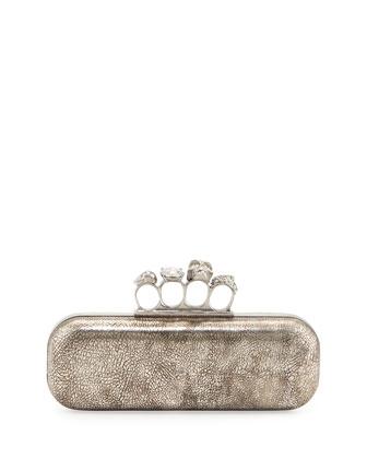 Alexander McQueen Tarnish Napa Long Knuckle Box Clutch Bag