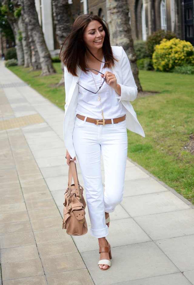 All-White Outfit Idea for Women