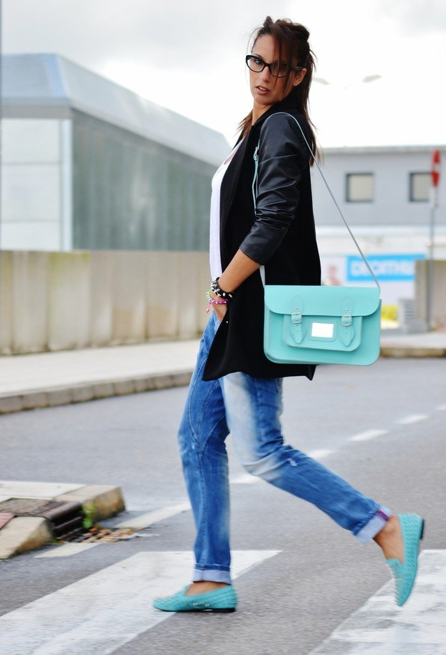 Baby Blue Satchel Bag