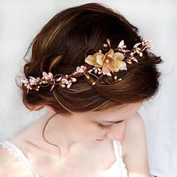 Beautiful Hairstyle with Flowers