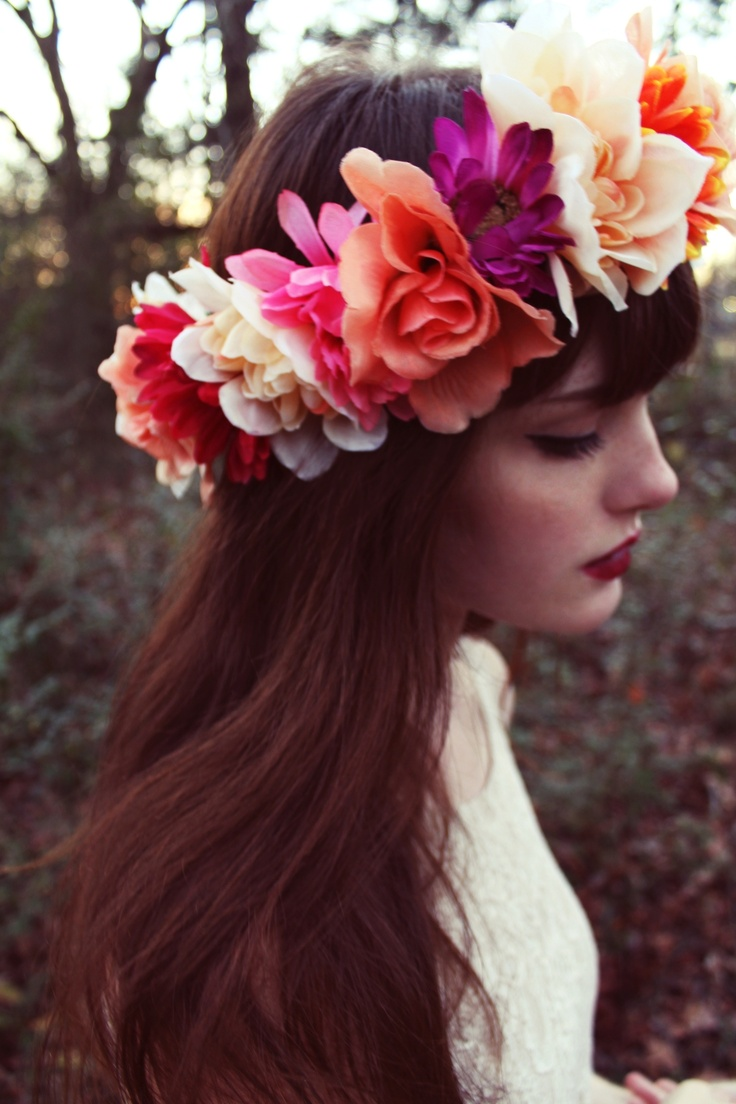 flower headband tumblr girl - photo #1